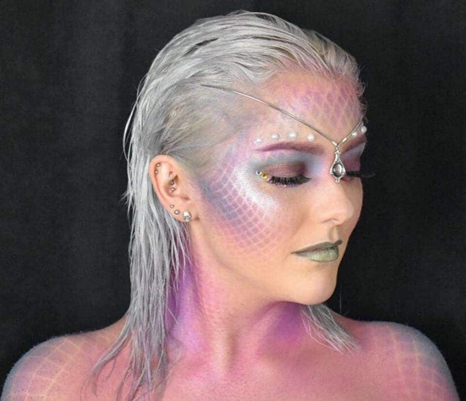 silver slicked back mermaid hair colour from Instagram victoriaxuk