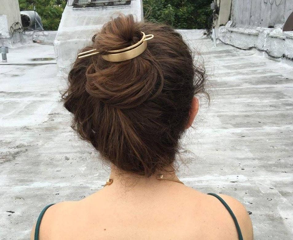 Bun hair: bun hair cuff trend messy bun