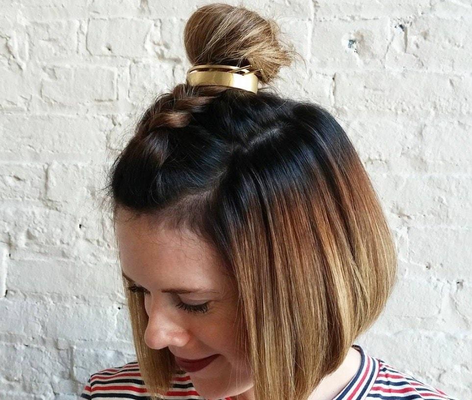 Bun hair: bun hair cuff unicorn braid bun