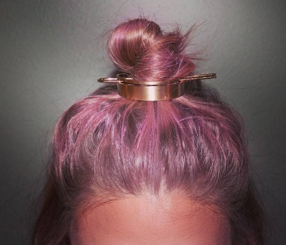 Hair bun: hair bun cuff pink hair