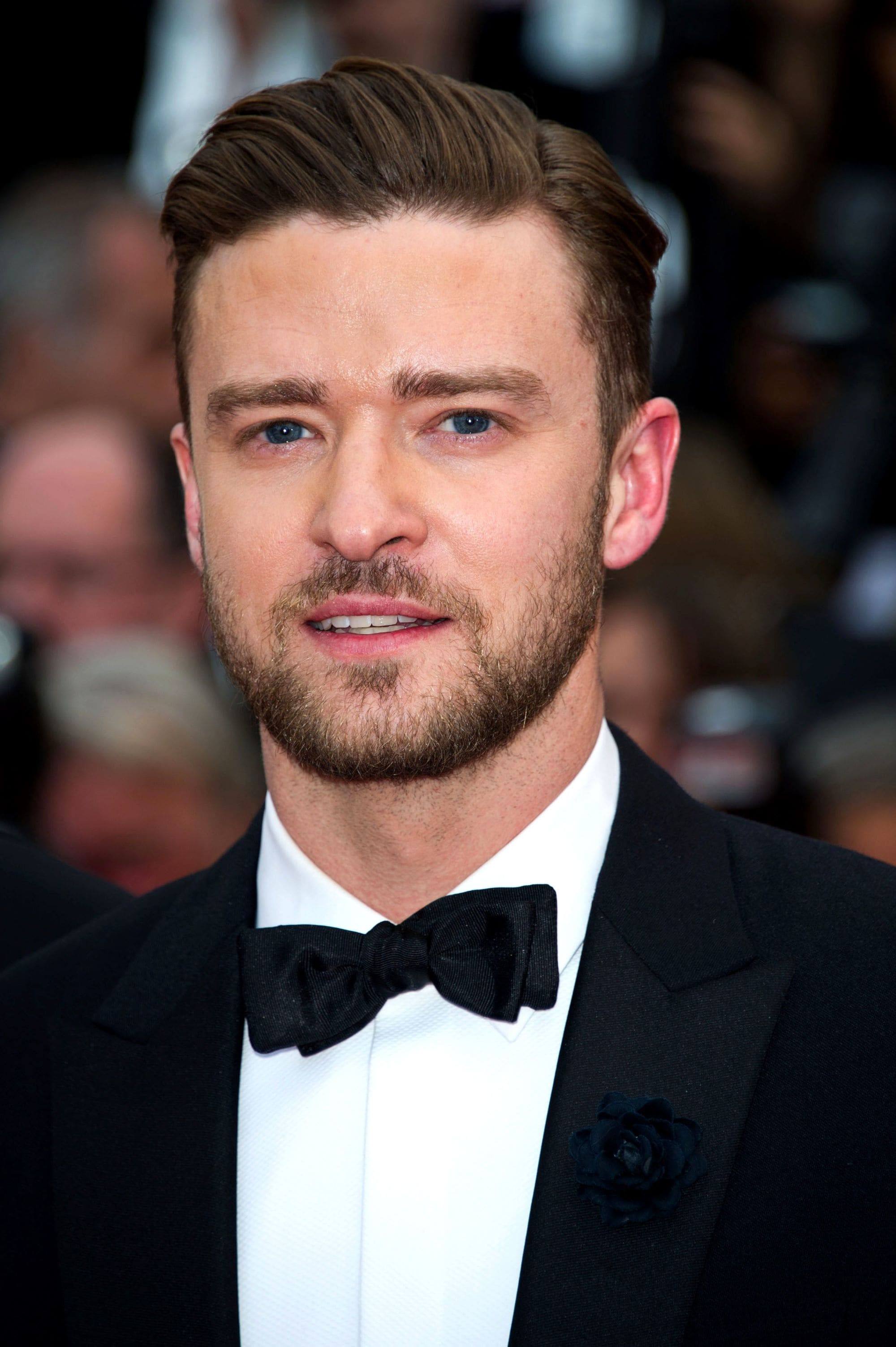 Ivy League haircut: Justin Timberlake with a long swept over Ivy League haircut, wearing a tux