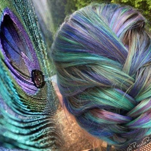 This Peacock Hair Colour Trend Is Going Viral