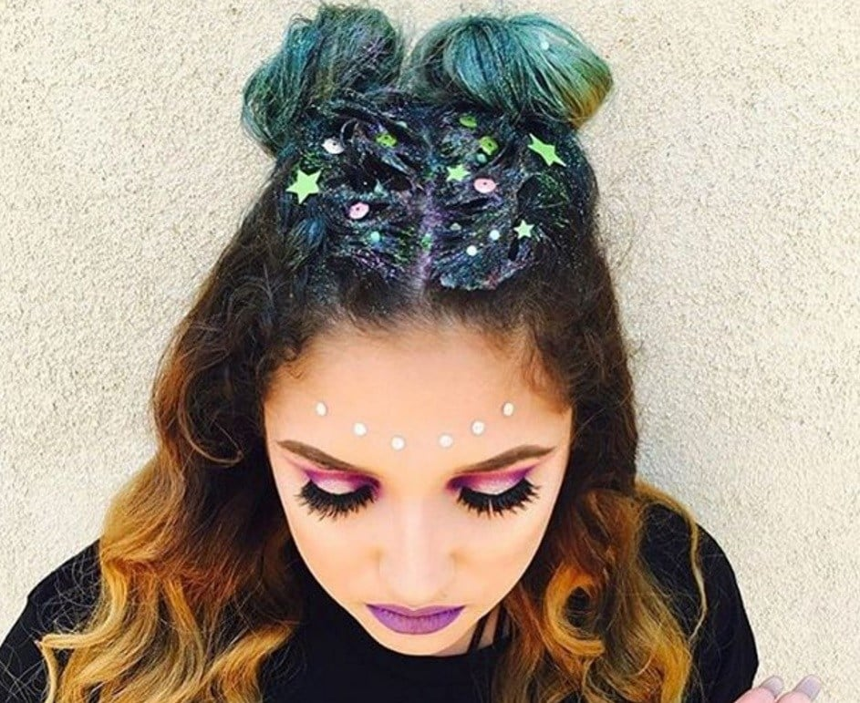 starry space buns for festivals