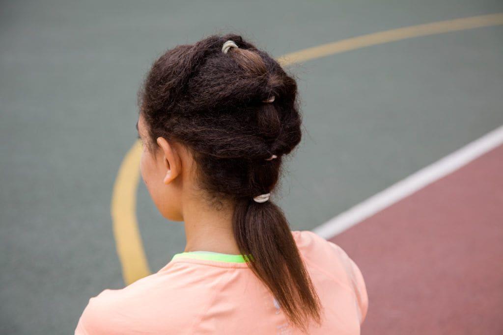 Rio-worthy black hair ideas: black hair tiered ponytail relaxed hair