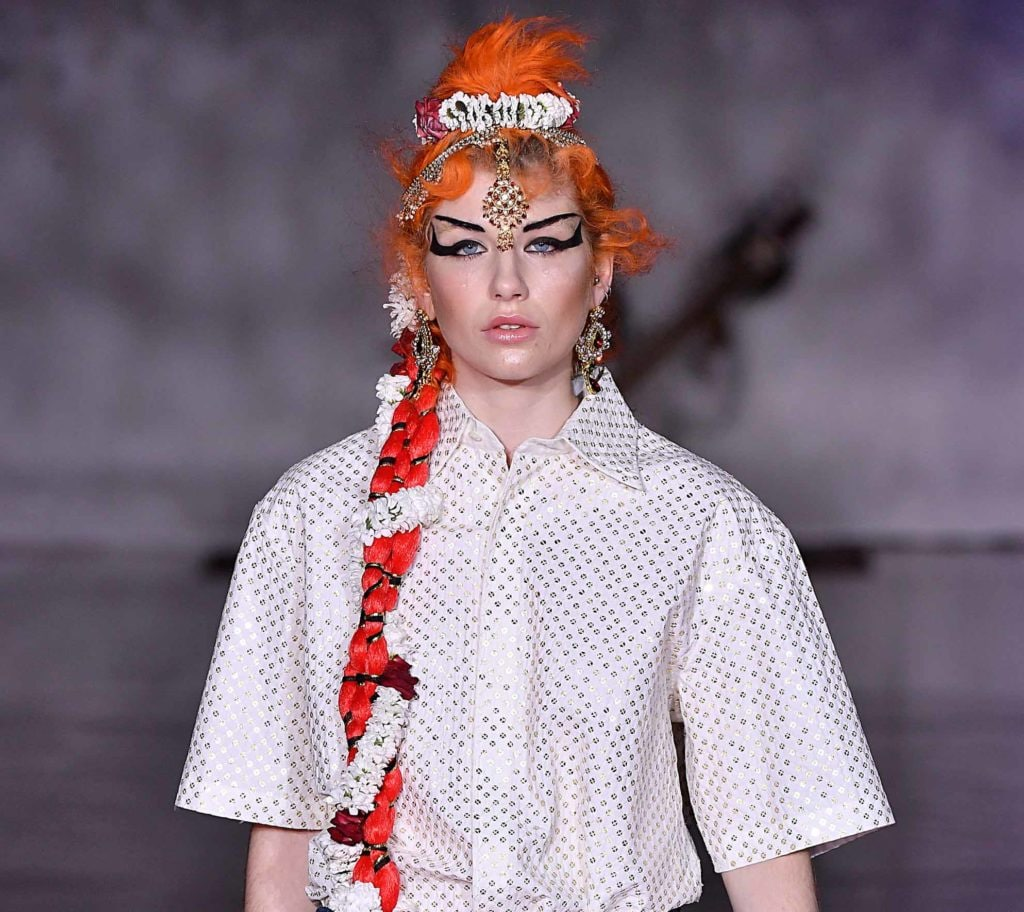 Bollywood inspired braids Ashish SS17 - pictures - All Things Hair
