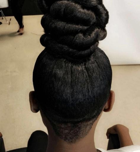 top knot bun with undercut