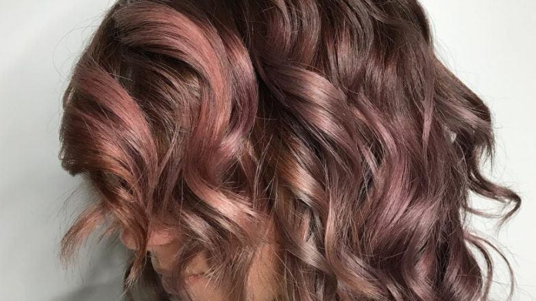 mauve hair: All Things Hair - IMAGE - chocolate mauve hair colour trend Instagram