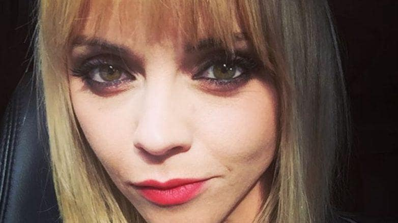 short hair with a side fringe: All Things Hair - IMAGE - Christina Ricci blonde hair Instagram