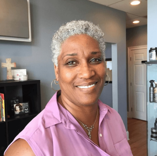 Grey hair trend: All Things Hair - IMAGE - silver TWA