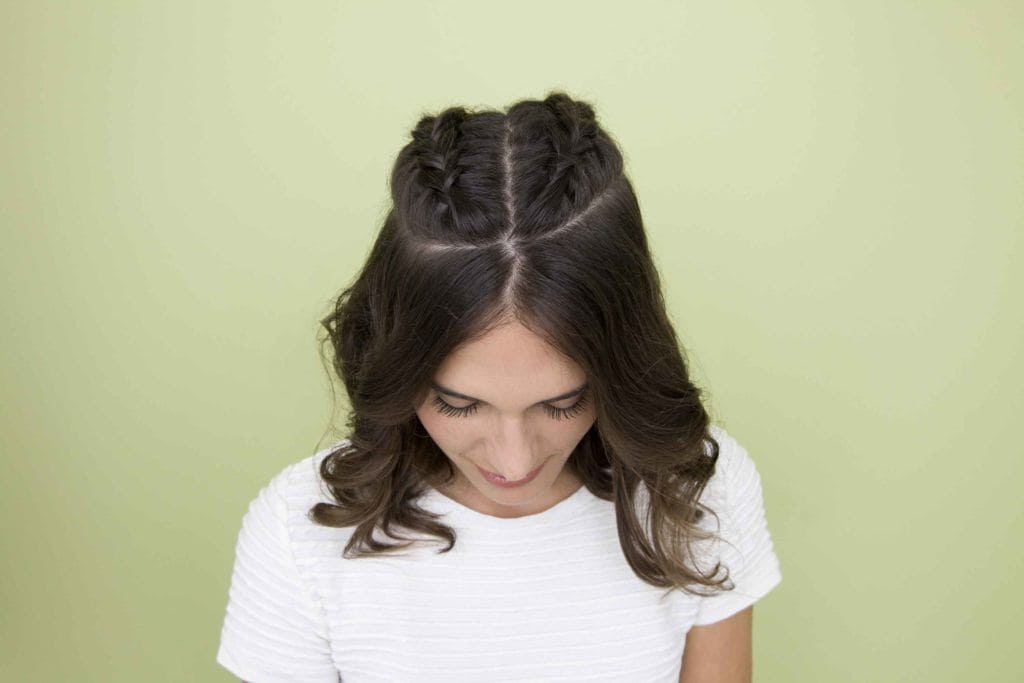 Party hair ideas: All Things Hair - IMAGE - Half-up, half-down French braids