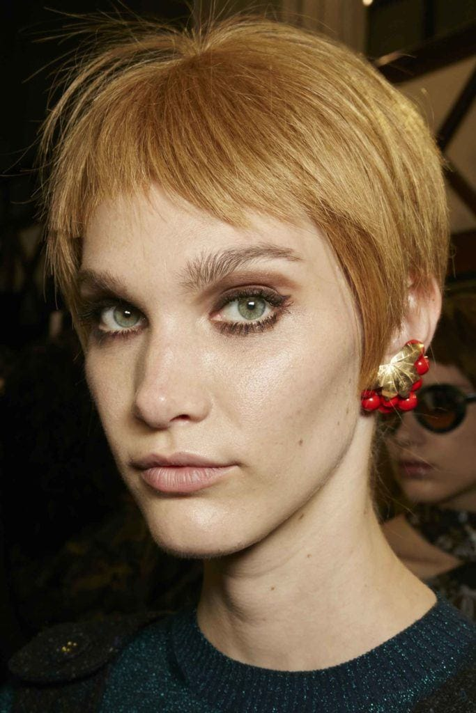 Choppy layers: All Things Hair - IMAGE - side swept pixie crop copper hair