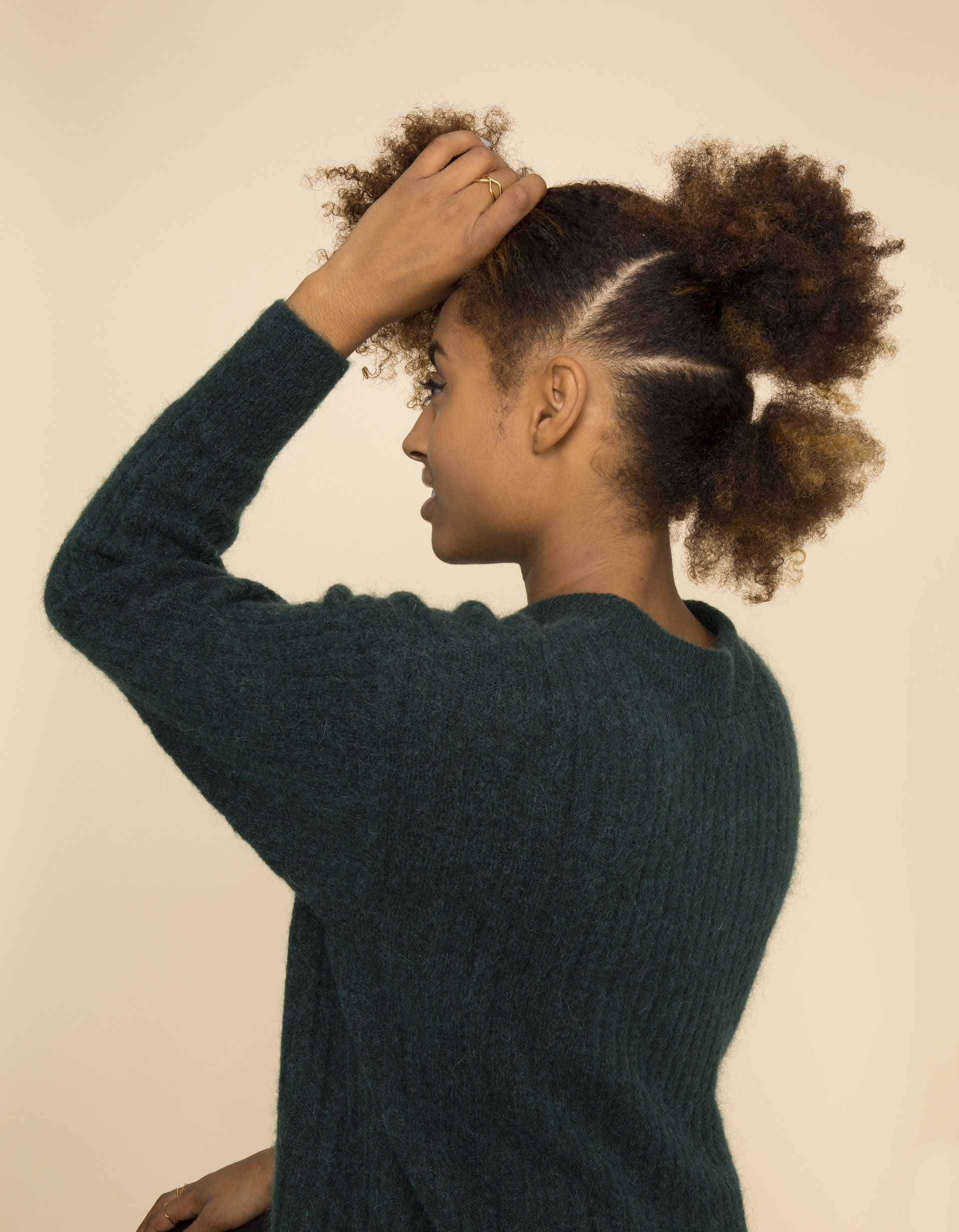 Natural hair frohawk: All Things Hair - IMAGE - create ponytails