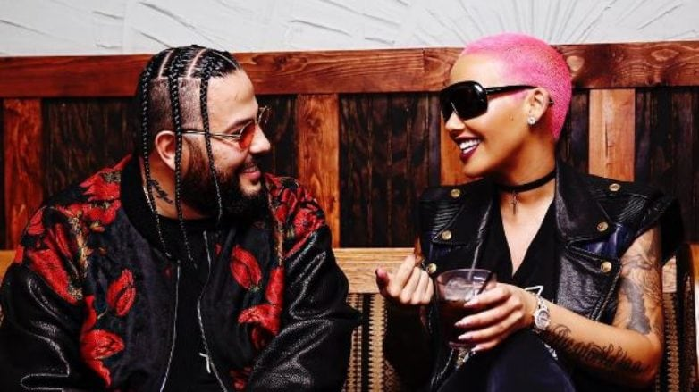 Hot pink hair: All Things Hair - IMAGE - Amber Rose with rapper Belly in a club