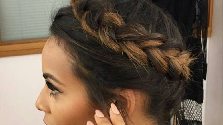 Rochelle Humes: All Things Hair - IMAGE - Halo braid, around the world braid