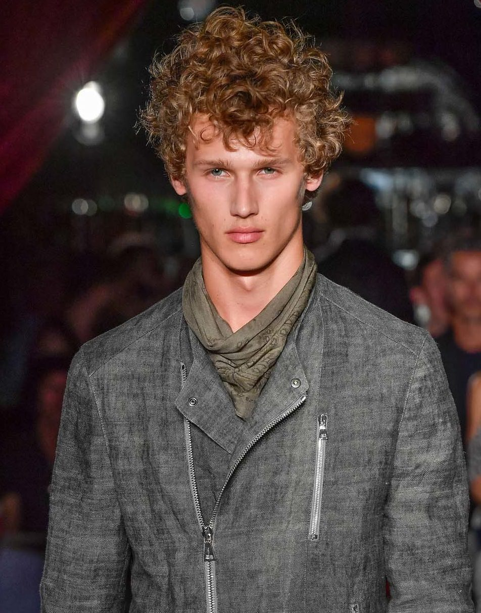 Permed hair: All Things Hair - IMAGE - man with short blonde curly hair