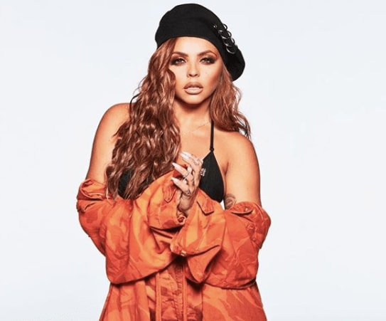 Jesy Nelson with long red curly hair