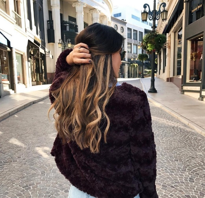 Tiger eye hair trend: All Things Hair - IMAGE - balayage hair trend Instagram