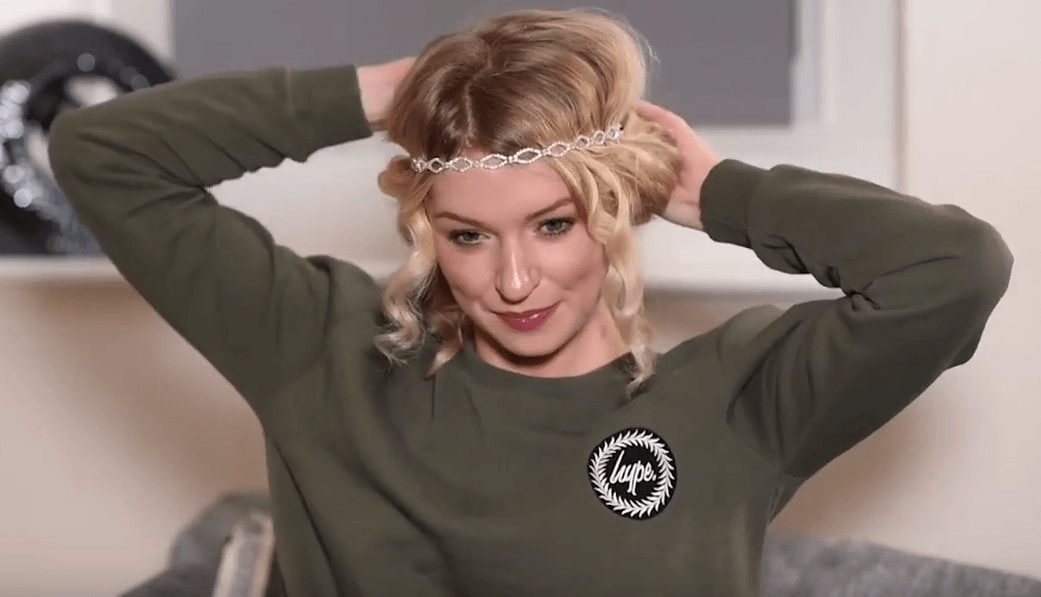How to curl short hair: All Things Hair - IMAGE - Zoe Newlove vlogger party updo hair tutorial