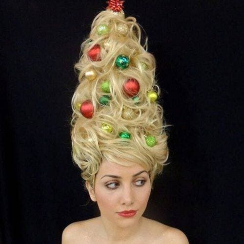 Xmas hair trend People are turning their locks into
