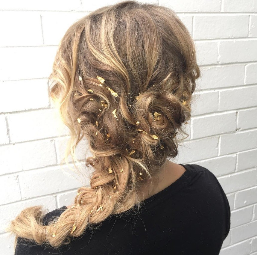 Gold Leaf Hair Foil Is The Stunning New Trend Taking Over