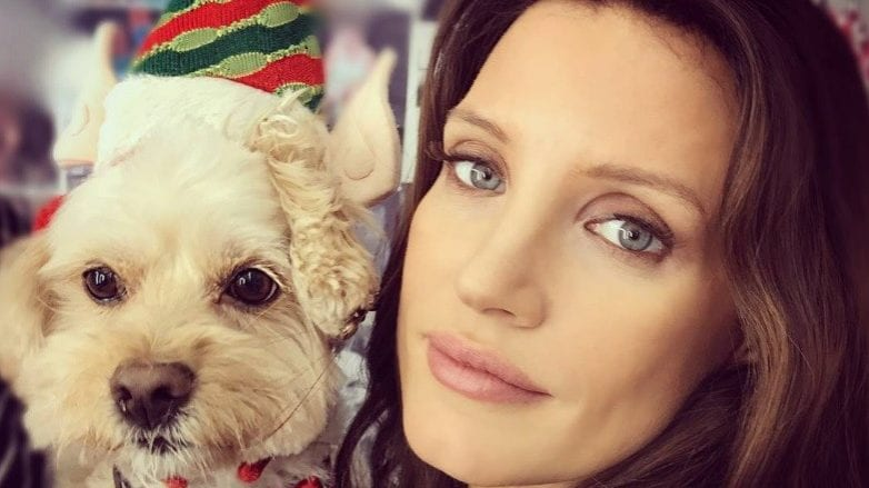chocolate brown hair colour: All Things Hair - IMAGE - Jessica Chastain Instagram celebrity waves