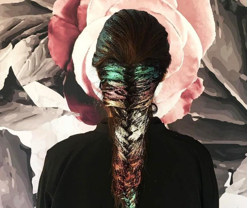 rainbow hair: All Things Hair - IMAGE - glitter rainbow braid long hair