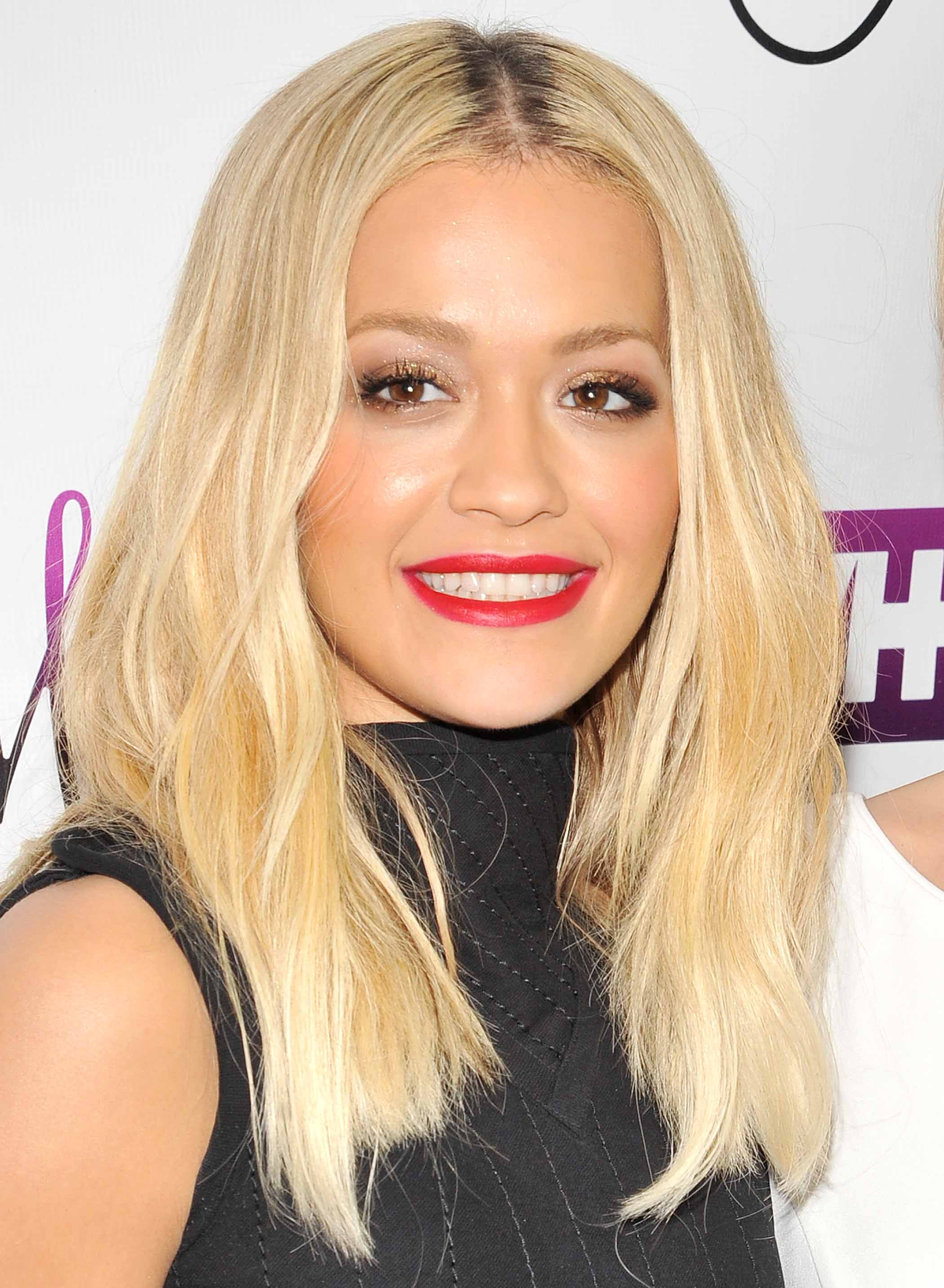 blonde hair with highlights: All Things Hair - IMAGE - Rita Ora long blonde hair
