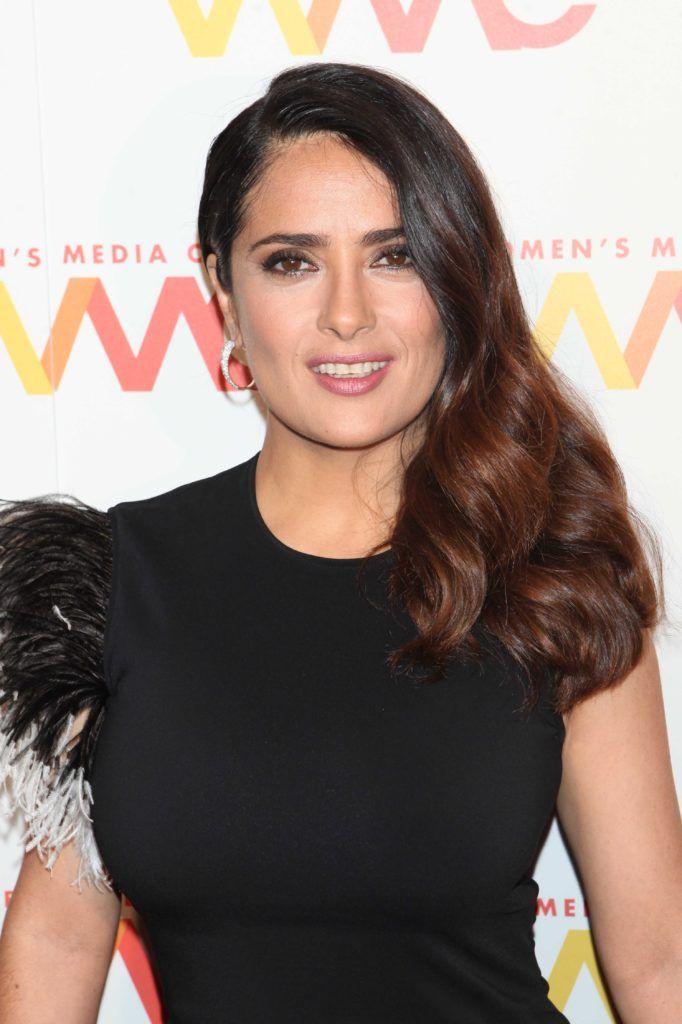 dark hair with highlights: All Things Hair - IMAGE - Salma Hayek long brown ombre hair
