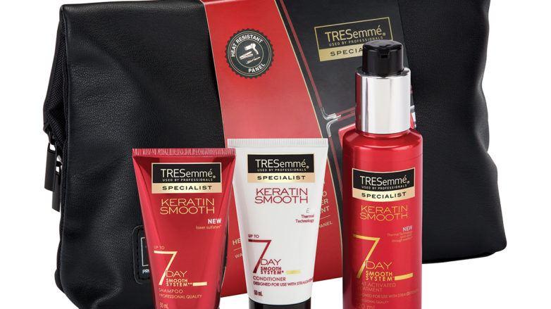 hair gifts Christmas: All Things Hair - IMAGE - TRESemmé 7 Day Smooth Wash Bag Gift Set