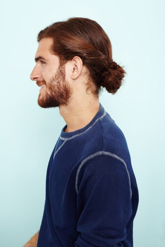 man bun hairstyle: All Things Hair - IMAGE - mens hairstyle twisted updo bun