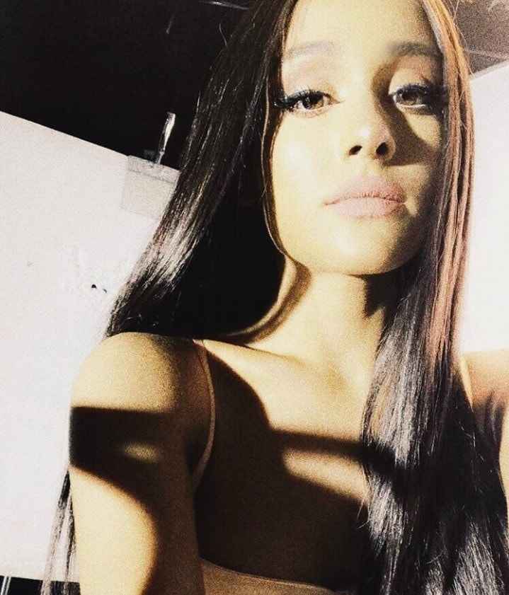 Ariana Grande with long straight hair