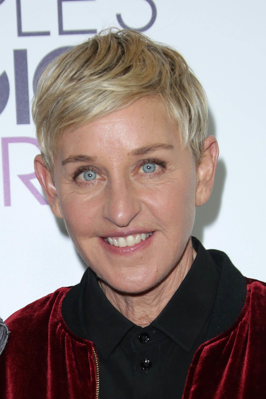 Ellen DeGeneres with pixie crop haircut