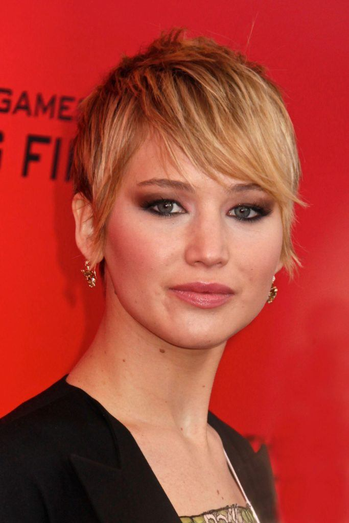 Jennifer Lawerence with crop hairstyle