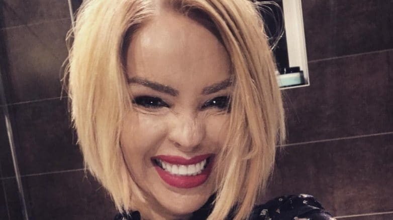 Katie Piper with a blonde bob