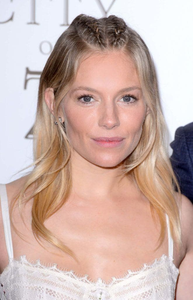 Sienna Miller Just Rocked An Edgy Parting Plait On The Red