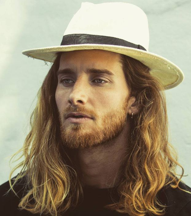 man with long wavy hair on instagram 2017 - mens hairstyles 2017