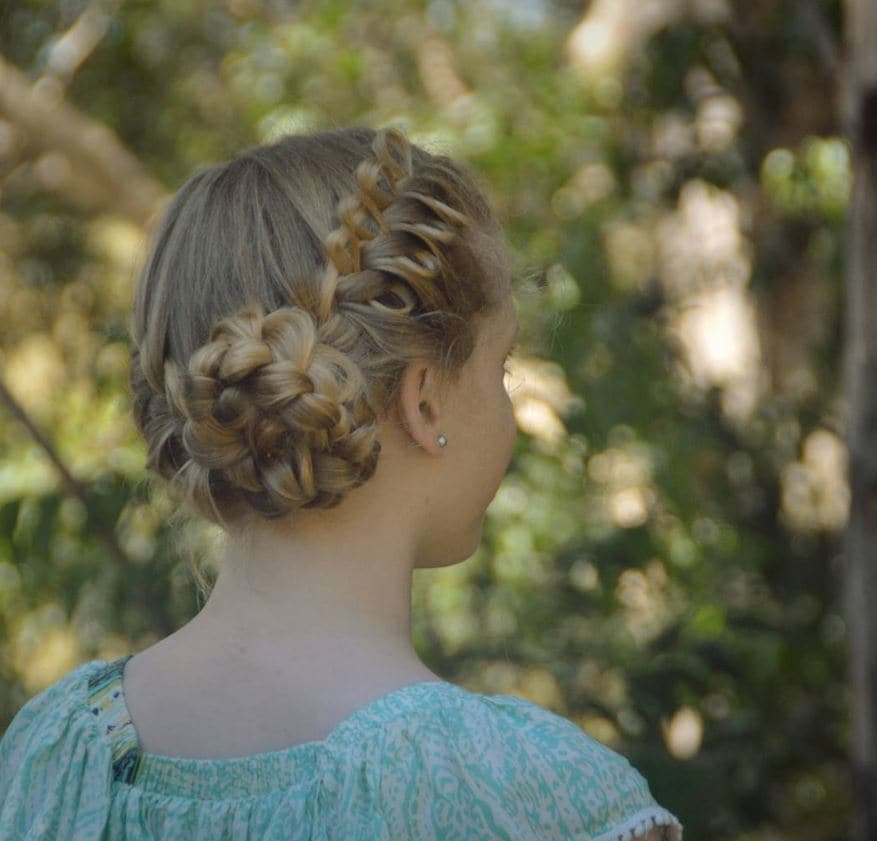 Low bun bow braid hairstyles - Instagram - how to create a bow braid updo