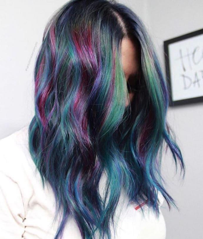 Stunning geode hair colour trend - Instagram