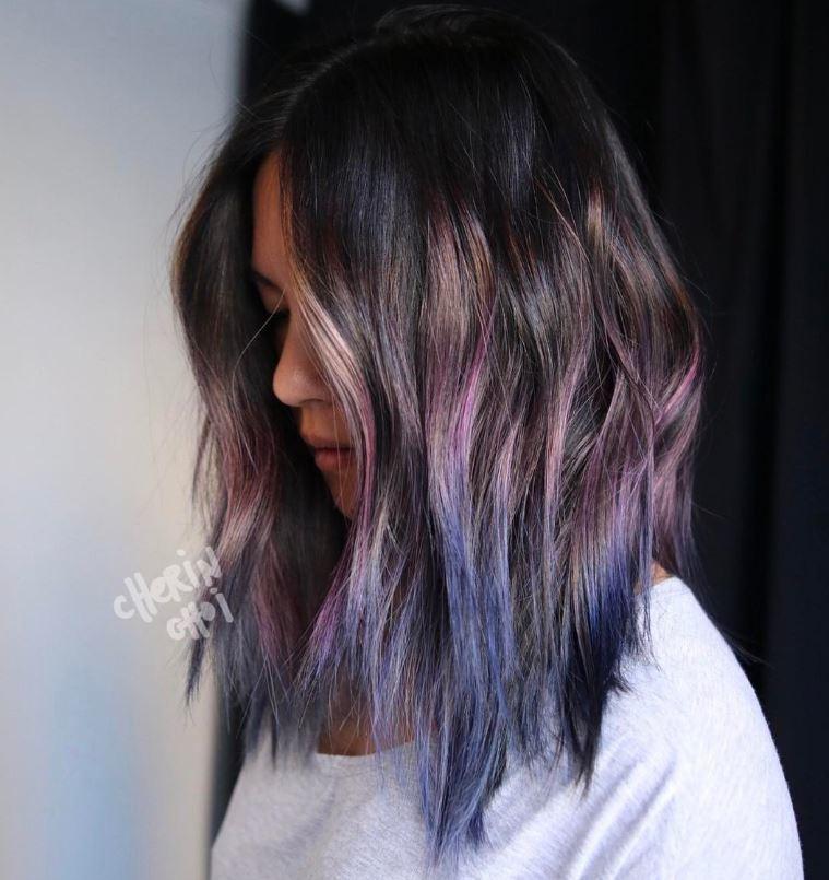 Wavy geode hair - Instagram
