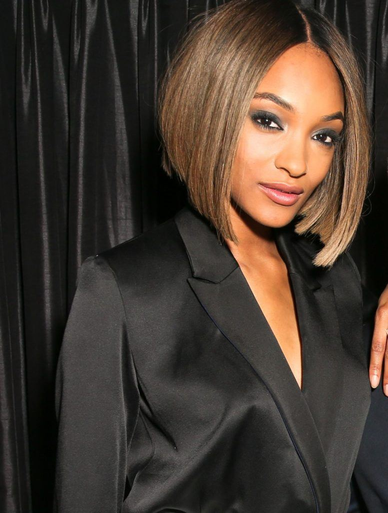 jourdan dunn graduated bob choppy hairstyles