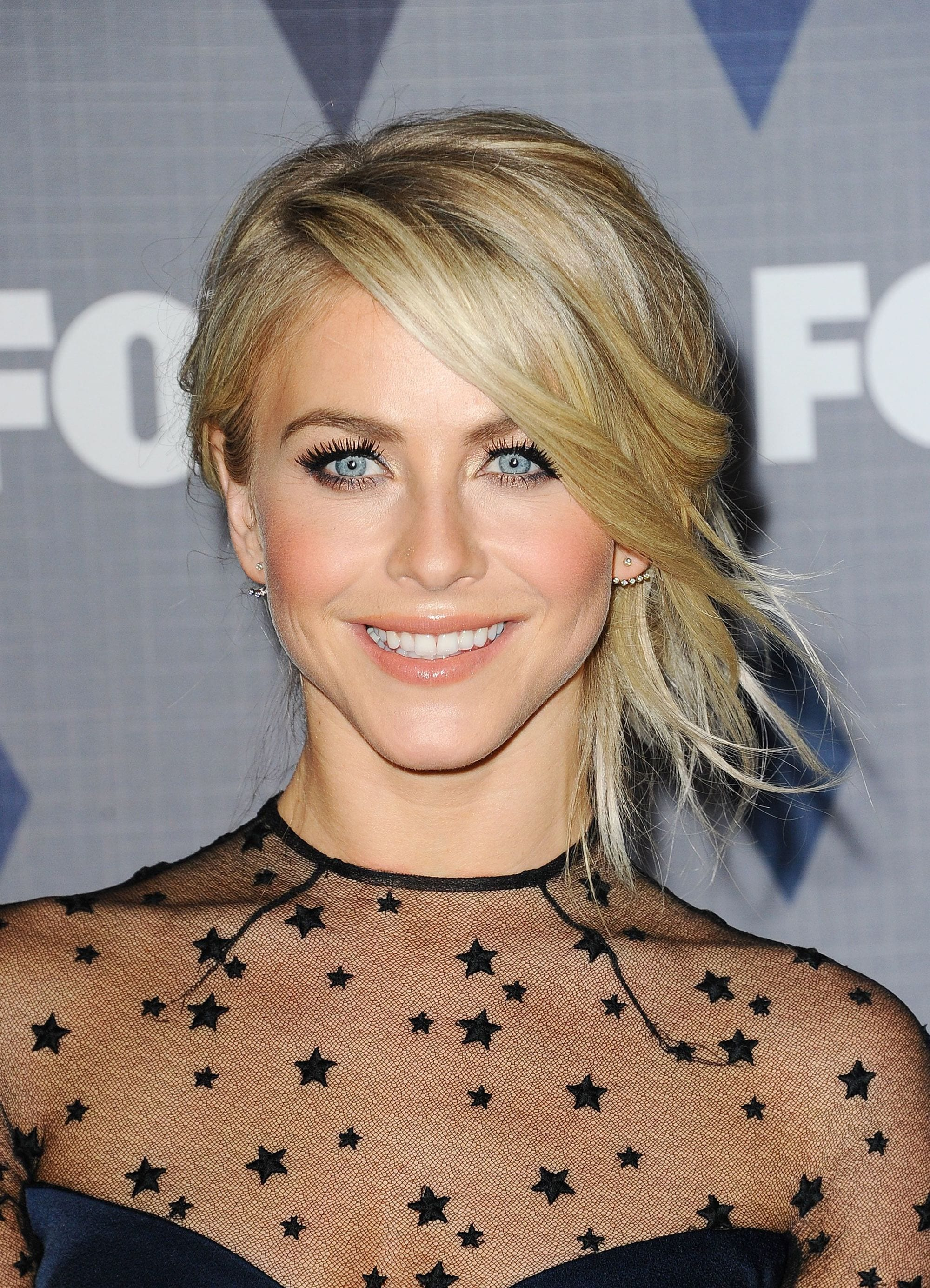 Choppy hair - Julianne Hough - Side updo with choppy side bangs