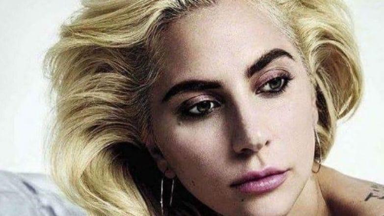 Lady Gaga's jet black hair transform: Lady Gaga with medium length blonde hair from her Instagram