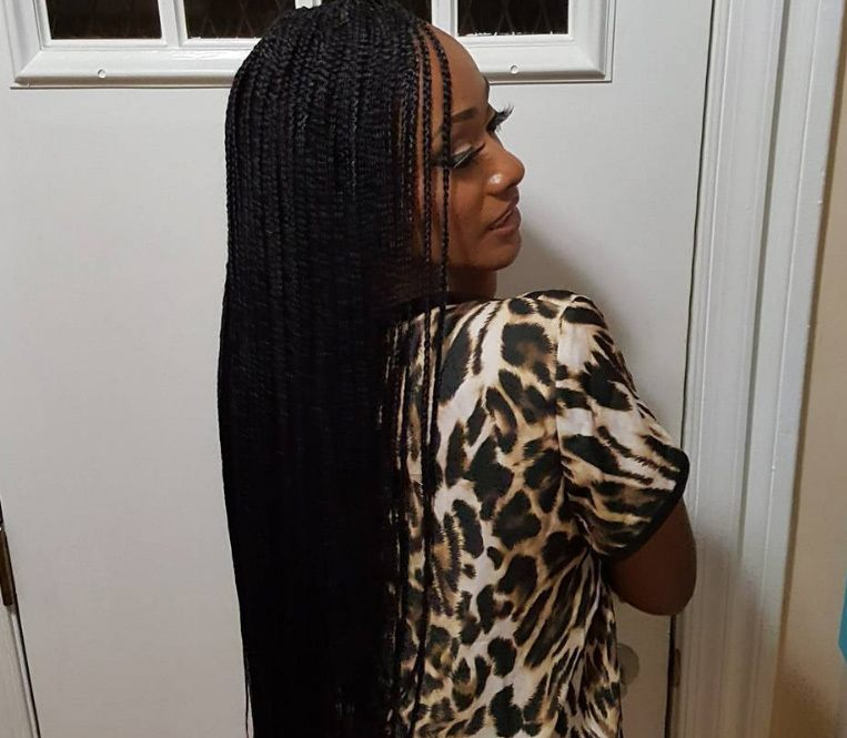 micro braids are one of the most time consuming black braided hairstyles, but they yield beautiful results.