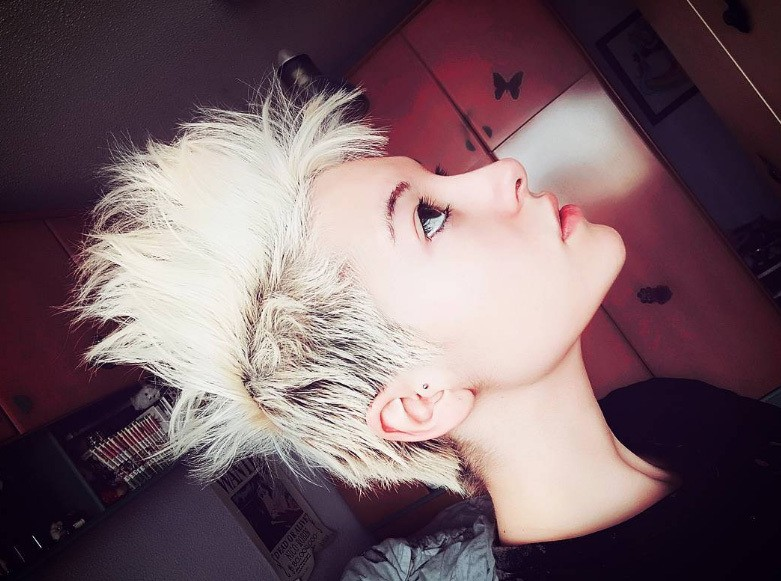 celebs like miley cyrus and pink are all fans of mohawk short spiky haircuts, as this trendsetter shows.