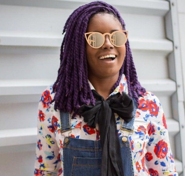 short yarn braid styles: thebaydian girl with short twisted yarn braids