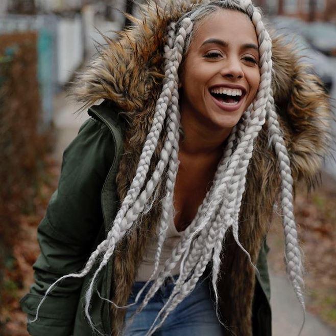 Turn heads with stunning grey thick box braid hairstyles