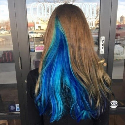 geode hair trend with hidden colours