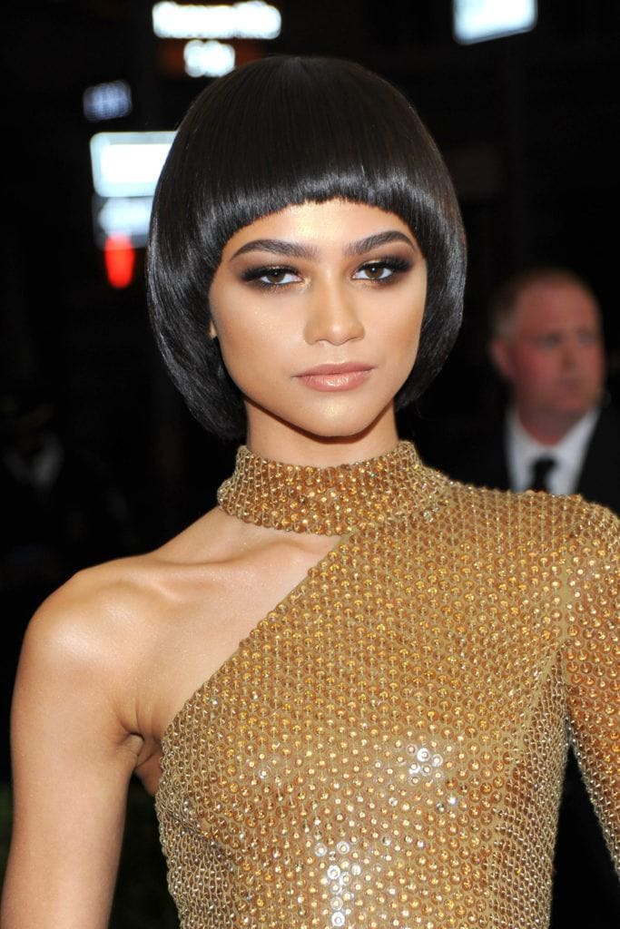 women's mod hairstyles : zendaya's bowl cut at the met ball