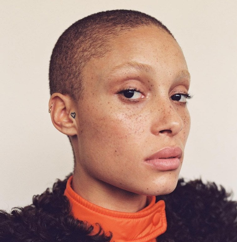 celebrity short hairstyles: the buzz cutl, as demonstrated by model adwoa aboah is one of the hottest cuts of 2017.