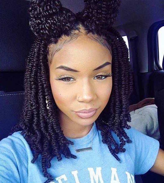 twist braids: how to do twist braids with space buns